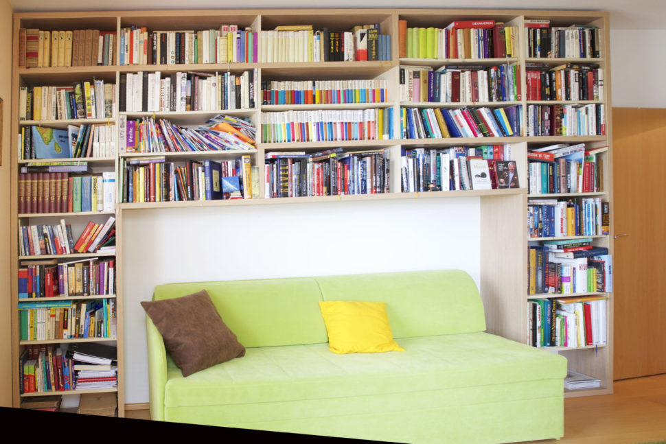 knihovna pokoj pro hosty