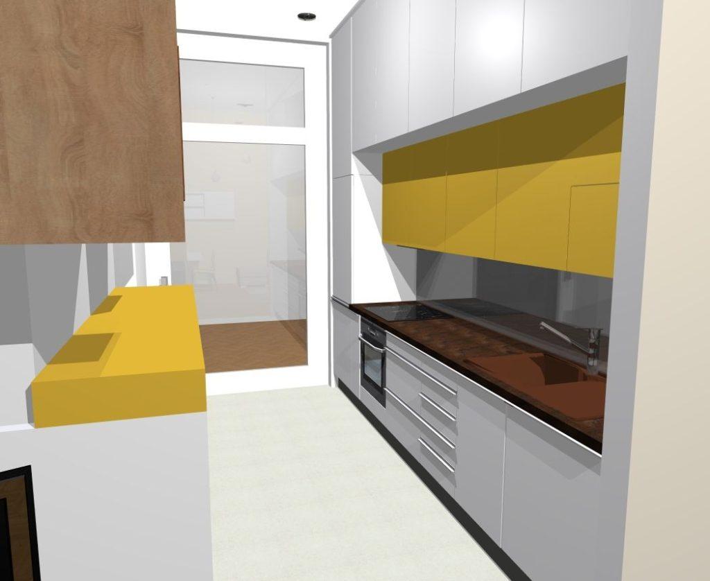 žlutá barva kuchyně