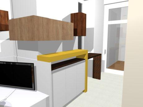 obývací pokoj žlutá