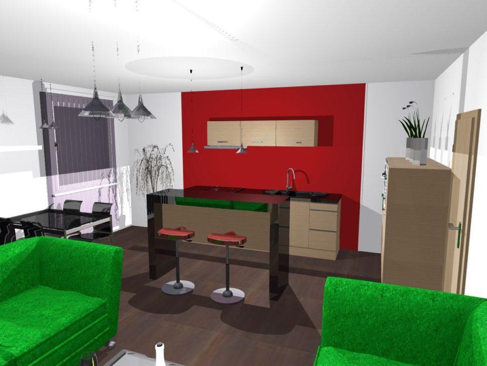 kuchyně černý lesk ačervená